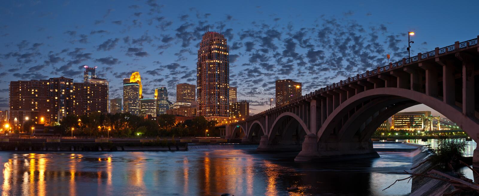 Minneapolis. Image of Minneapolis downtown at twilight royalty free stock images