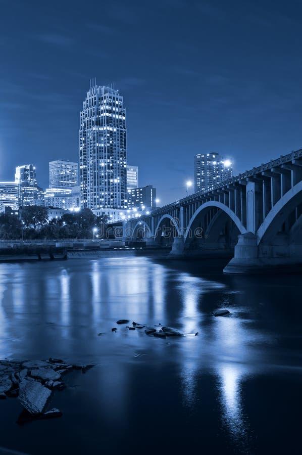 Minneapolis. Image of Minneapolis downtown at night royalty free stock photo