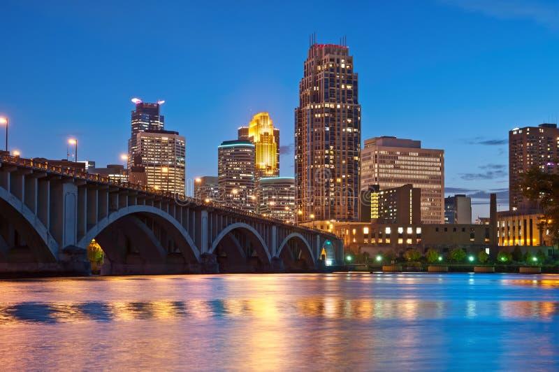 Minneapolis. Image of Minneapolis downtown at twilight stock image