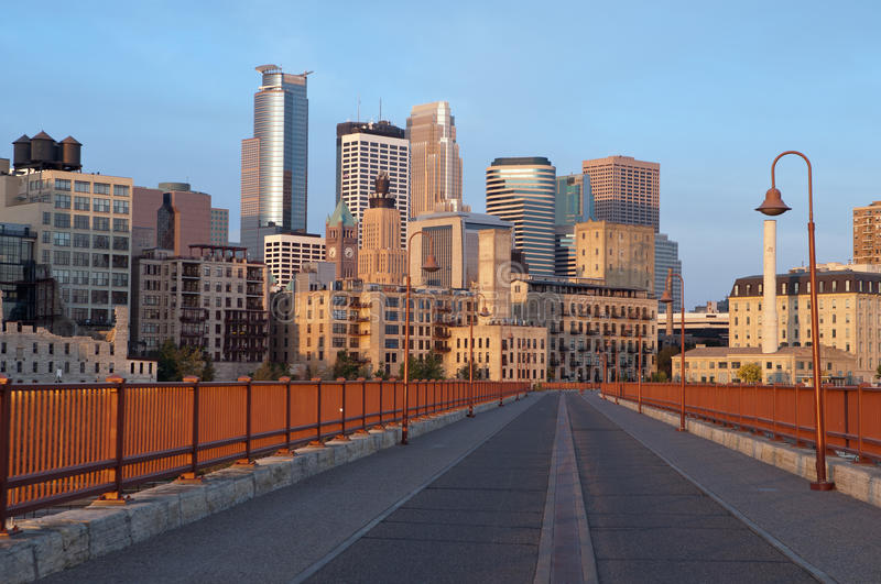 Minneapolis. Image of city of Minneapolis in the early morning royalty free stock photo