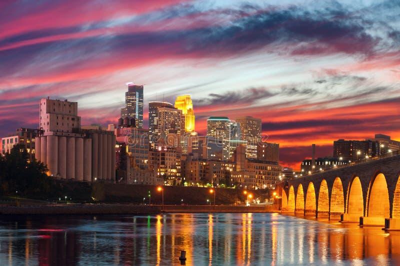 Minneapolis. Image of Minneapolis downtown at twilight royalty free stock photos
