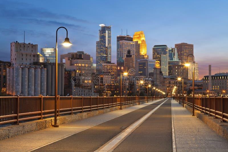Minneapolis. royaltyfria bilder