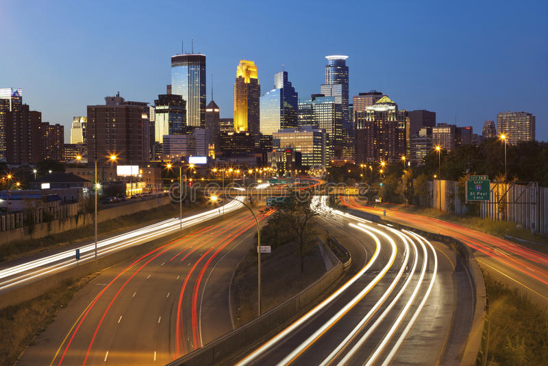 Minneapolis. fotografering för bildbyråer