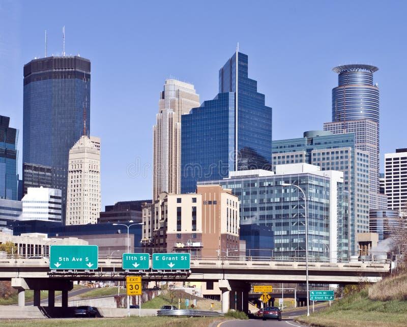 Minneapolis. A view of the skyline of downtown Minneapolis Minnesota stock photos