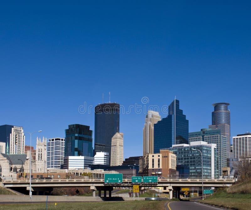 Minneapolis. A view of downtown Minneapolis Minnesota stock images