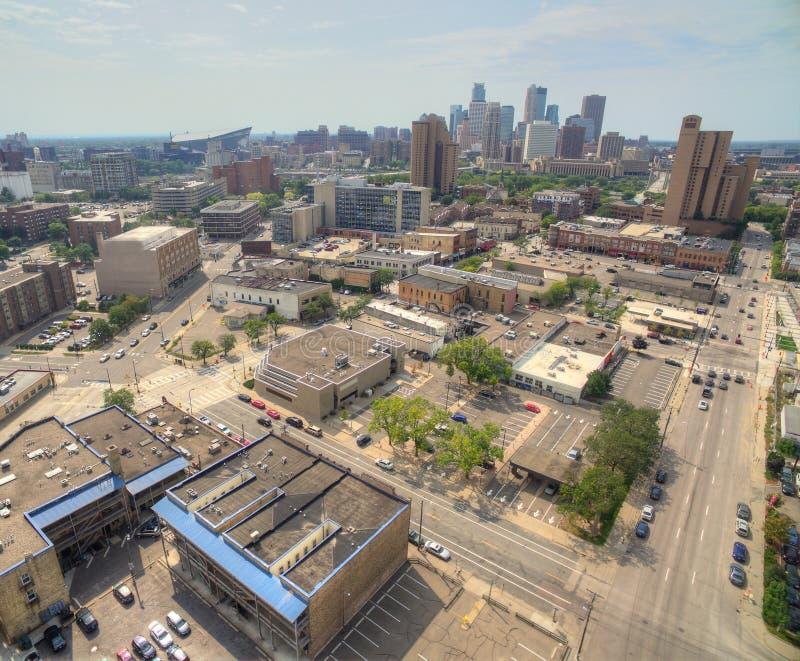 Minneapolis Skyline in Minnesota, USA royalty free stock photos