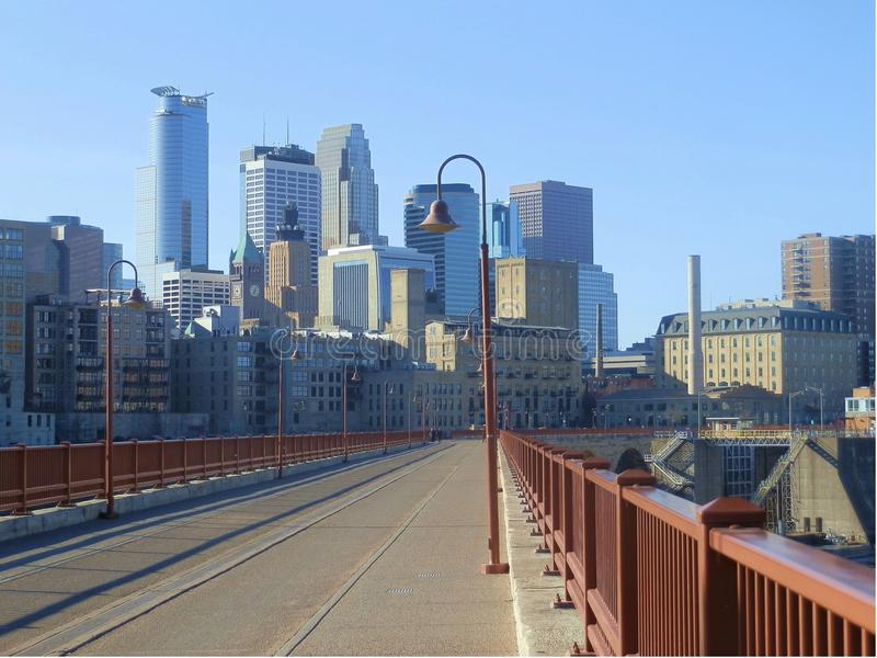 Minneapolis cityscape royalty free stock photos