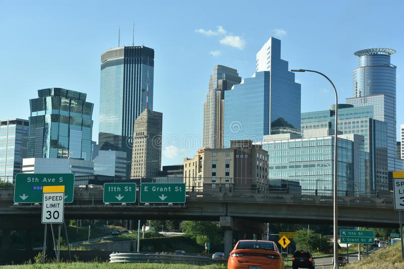 Minneapolis downtown stock photo
