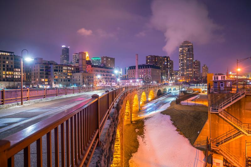 Minneapolis downtown skyline in Minnesota, USA royalty free stock photos