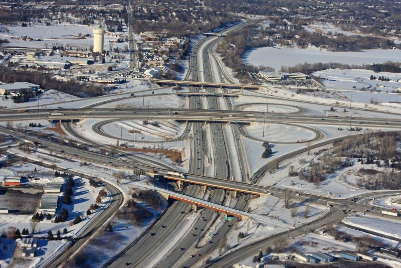 Minneapolis en hiver image stock