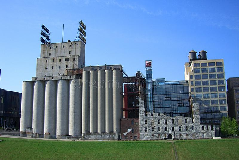 Minneapolis - Gold Medal Flour Mill and Signs royalty free stock image