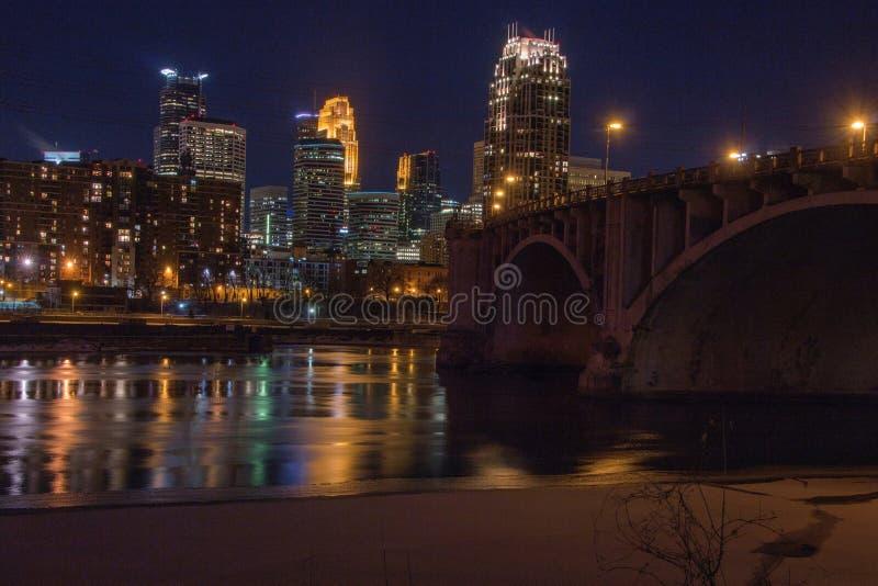 Minneapolis linia horyzontu w Minnestoa, usa zdjęcie stock