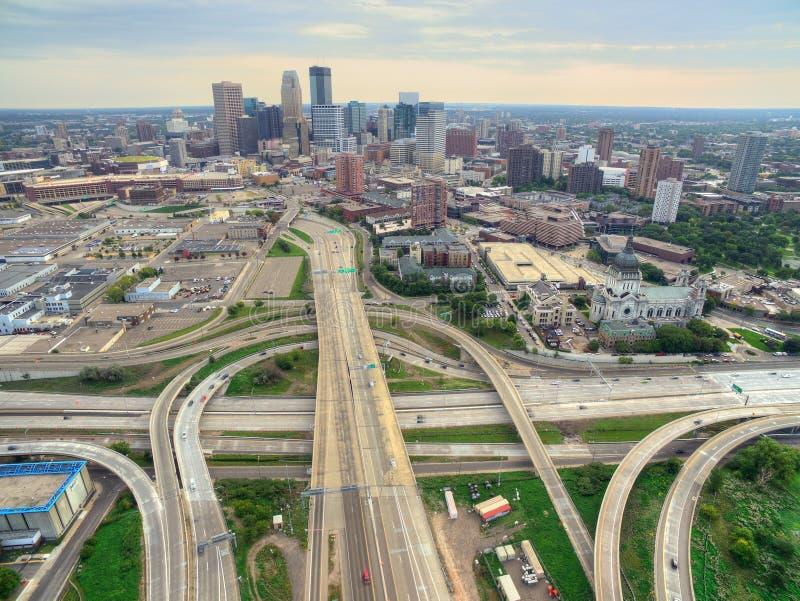 Minneapolis linia horyzontu w Minnestoa, usa zdjęcia royalty free