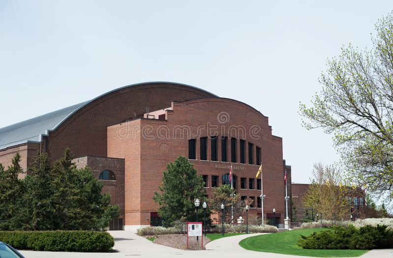 MINNEAPOLIS, MANGAN, USA - 2. MAI 2017: Williams Arena auf dem Campus der Universität von Minnesota Williams Arena ist Haus von U stockfotografie