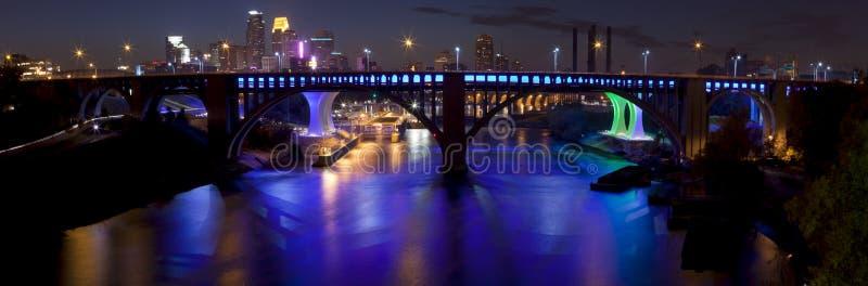 Minneapolis, Minnesota (panoramic) stock photography