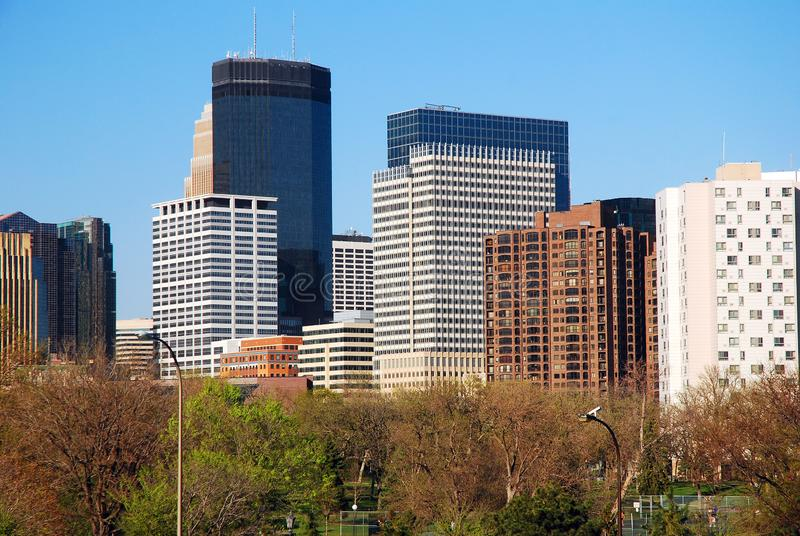 Minneapolis, Minnesota skyline stock image