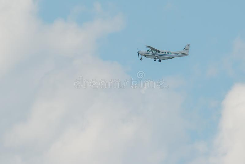MINNEAPOLIS, MINNESOTA / USA - JUNE 25, 2019: Closeup of airplane aircraft departures taking off from the MSP - Minneapolis / St stock photography
