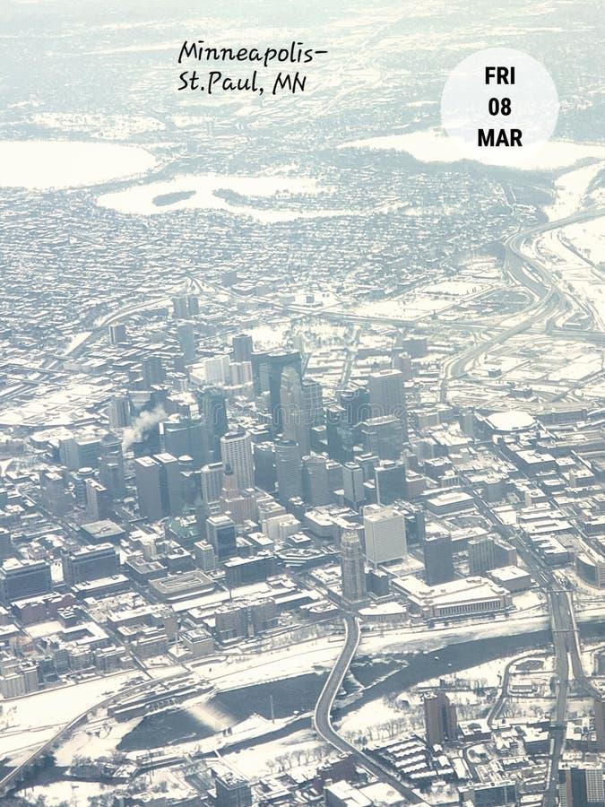 Minneapolis Minnestoa linia horyzontu zdjęcie royalty free