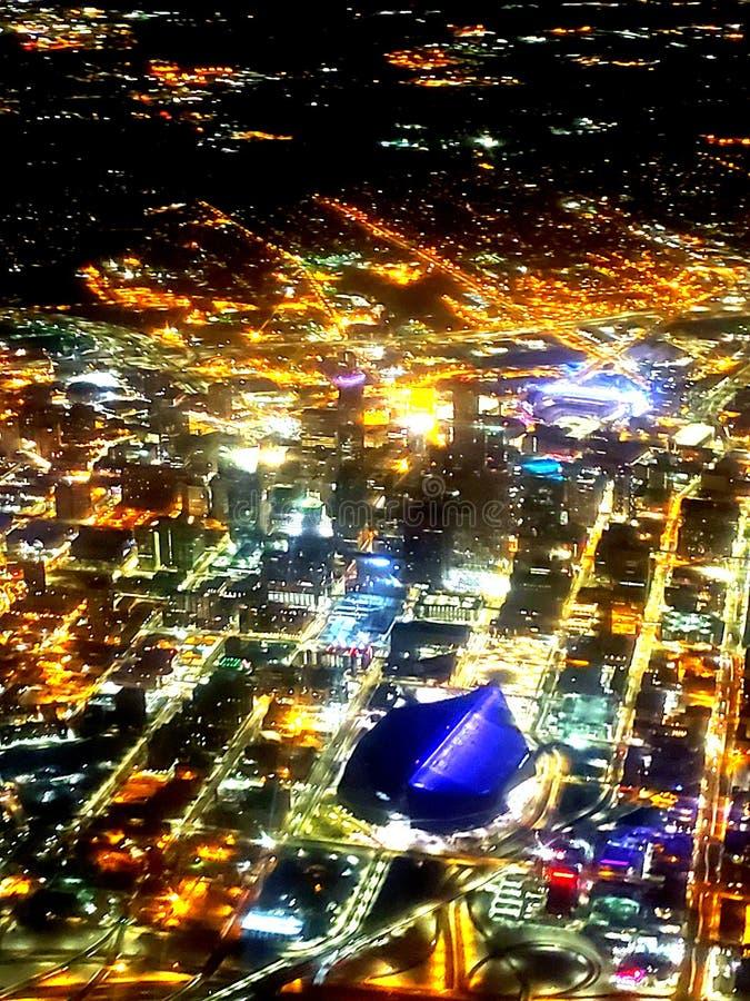 Minneapolis Minnestoa nocy życie zdjęcia stock