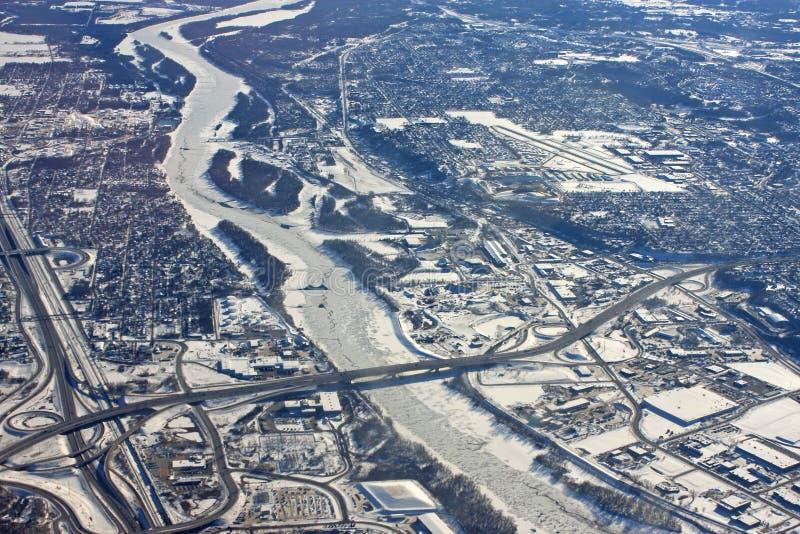 Minneapolis nell'inverno immagini stock libere da diritti