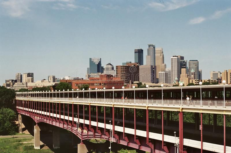 Minneapolis skyline stock photography