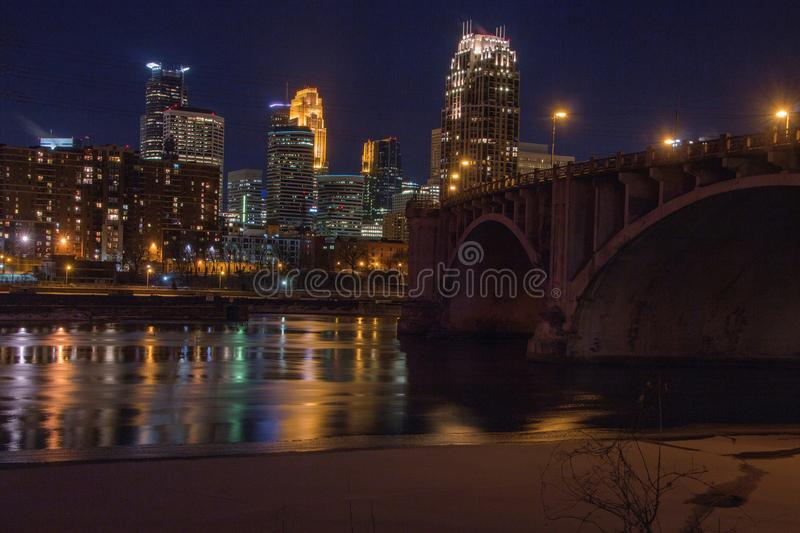 Minneapolis-Skyline in Minnesota, USA stockfoto