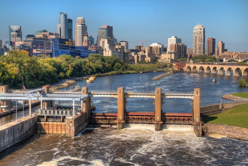 Minneapolis Skyline in Minnesota, USA royalty free stock photography