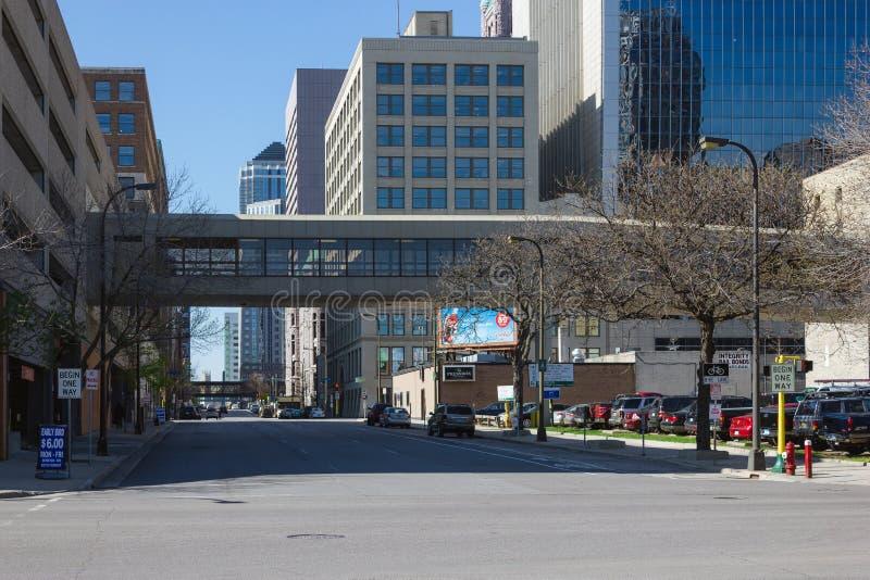 Minneapolis Skyway stockfoto