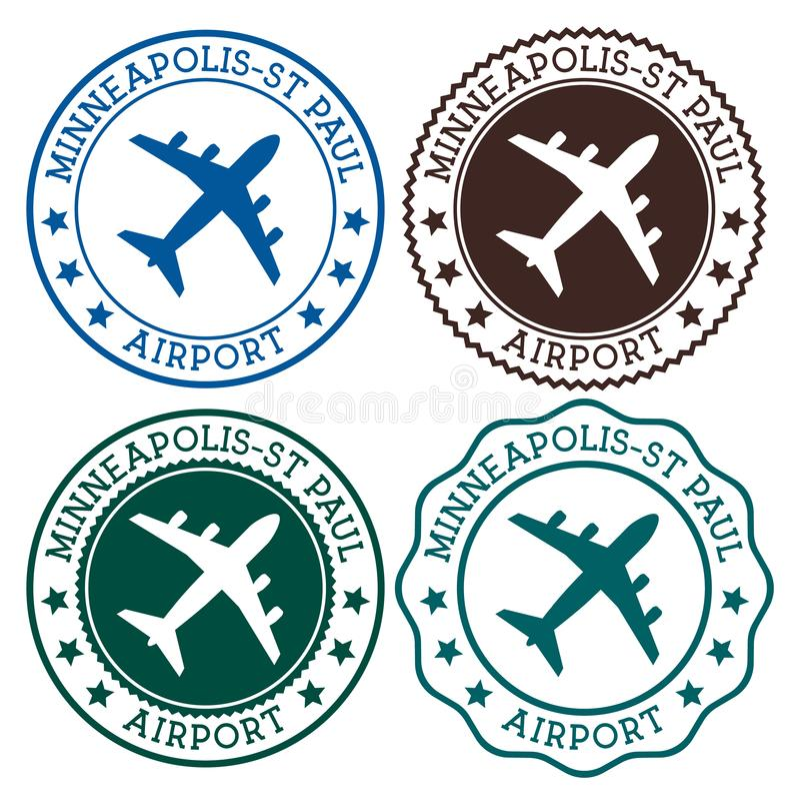 Minneapolis-St. Paul Airport lizenzfreie abbildung