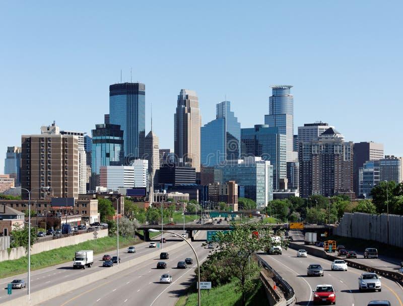 Minneapolis. A view of the skyline of downtown Minneapolis, Minnesota royalty free stock photo