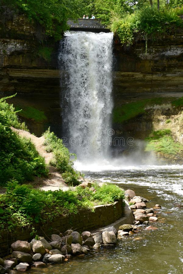 Minnehaha Falls stock images