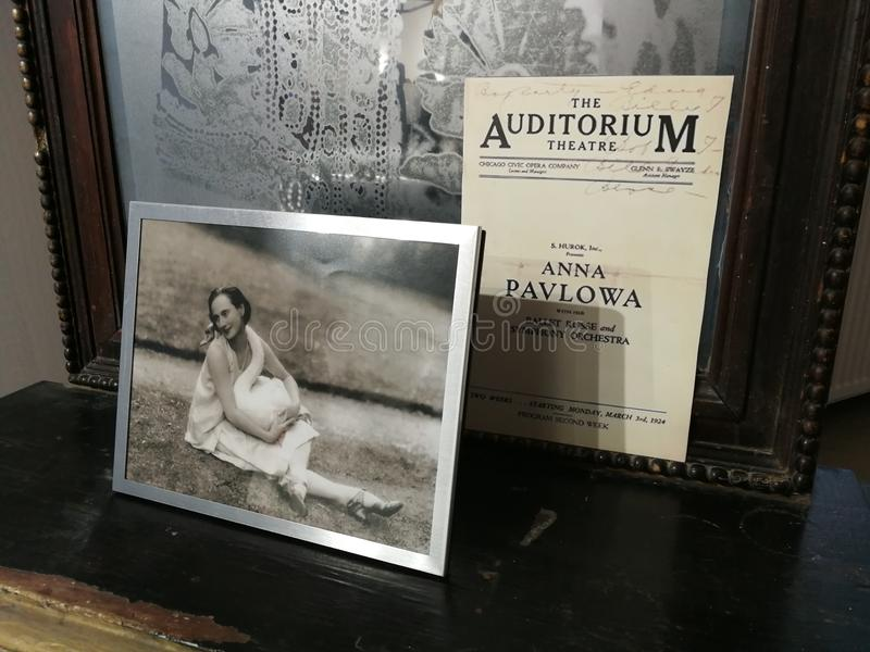 minnen av Anna Pavlova arkivfoto