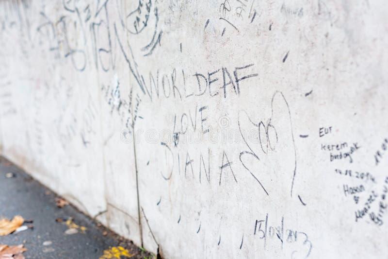 Minnen av Diana royaltyfri foto