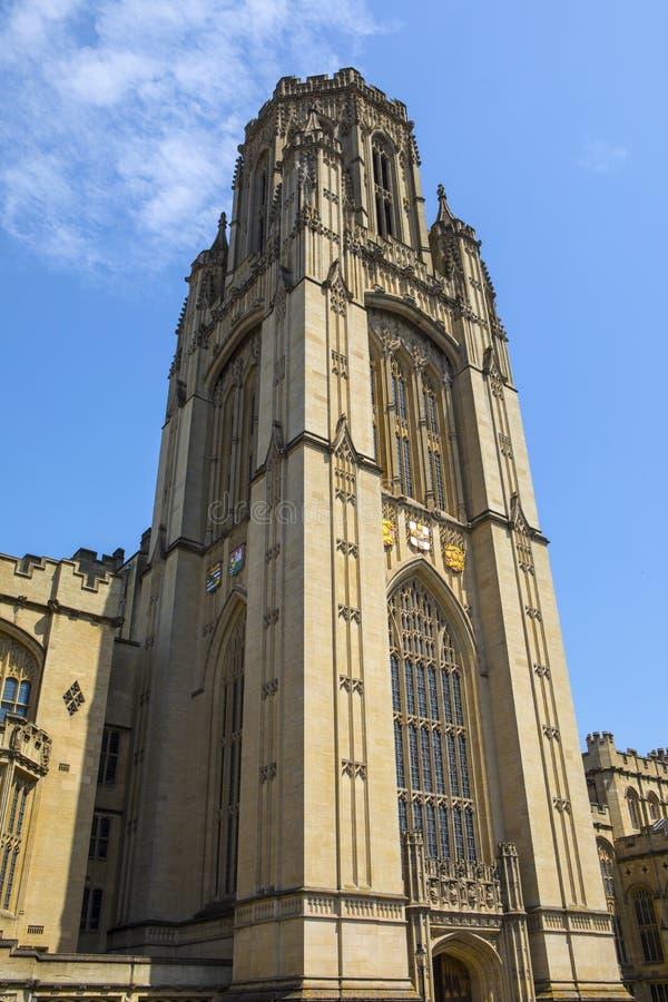 Minnes- byggnad f?r Wills i Bristol royaltyfri bild