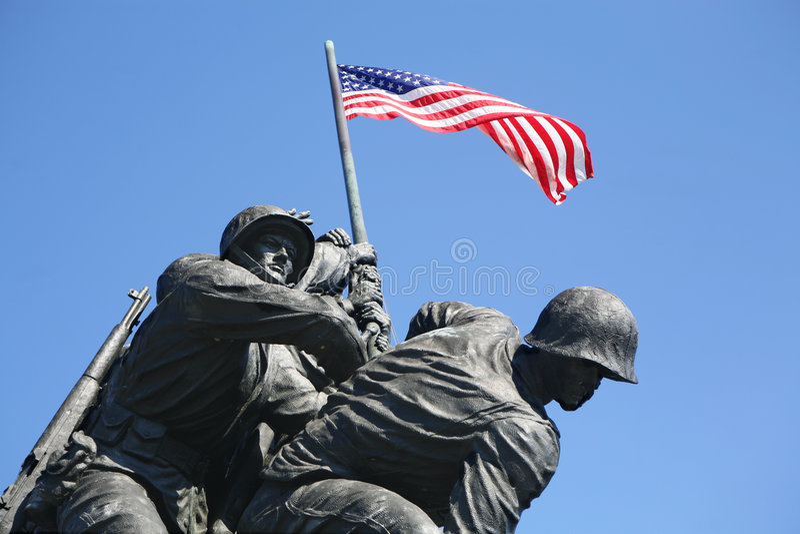 minnes- Iwo Jima flottor arkivbilder