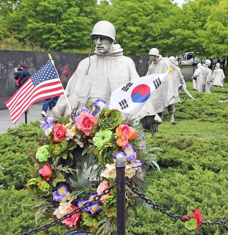 Minnes- koreanska krigsveteran arkivbild
