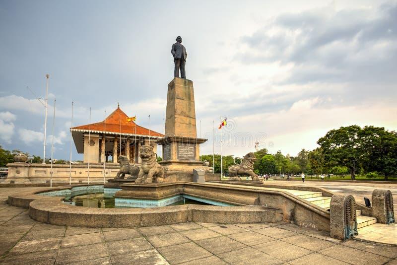 Minnes- korridor för självständighet, Colombo, Sri Lanka fotografering för bildbyråer