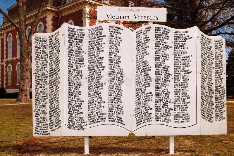 Minnes- liten stadVietnam veteran royaltyfri bild