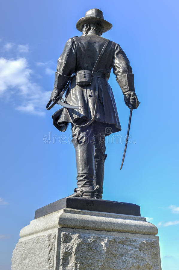 Minnes- monument, Gettysburg, PA fotografering för bildbyråer