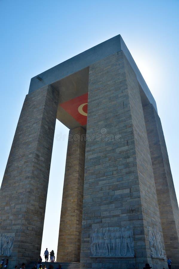 Minnes- monument i namnet av Canakkale martyr royaltyfri foto
