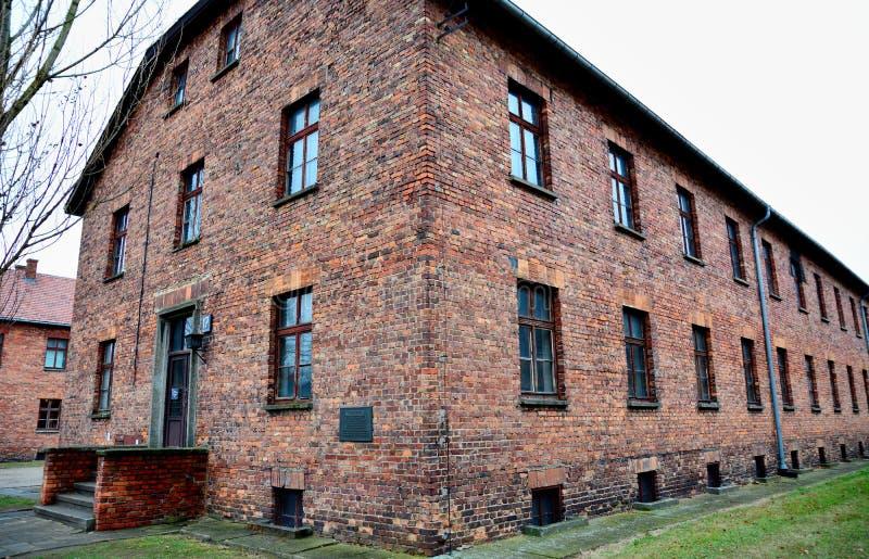 Minnes- museum för Auschwitz I förintelse arkivbild
