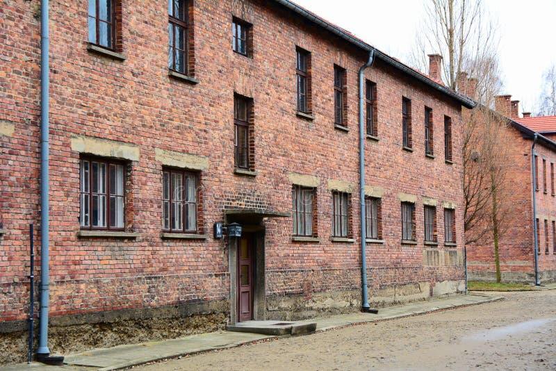 Minnes- museum för Auschwitz I förintelse arkivbilder