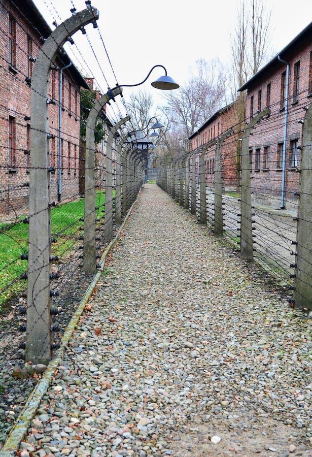 Minnes- museum för Auschwitz I förintelse royaltyfri foto