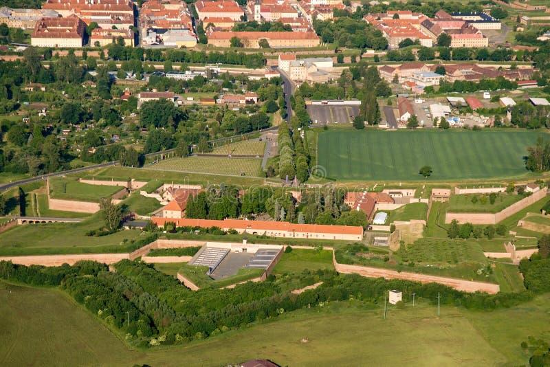 Minnes- och liten fästning Terezin arkivfoton
