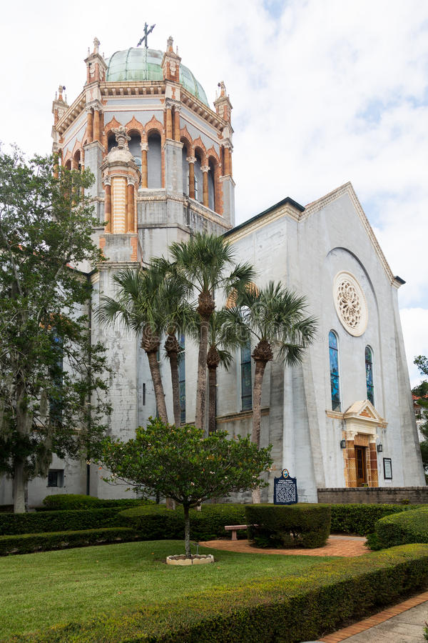 Minnes- presbyterianskaa kyrkan Florida arkivfoton