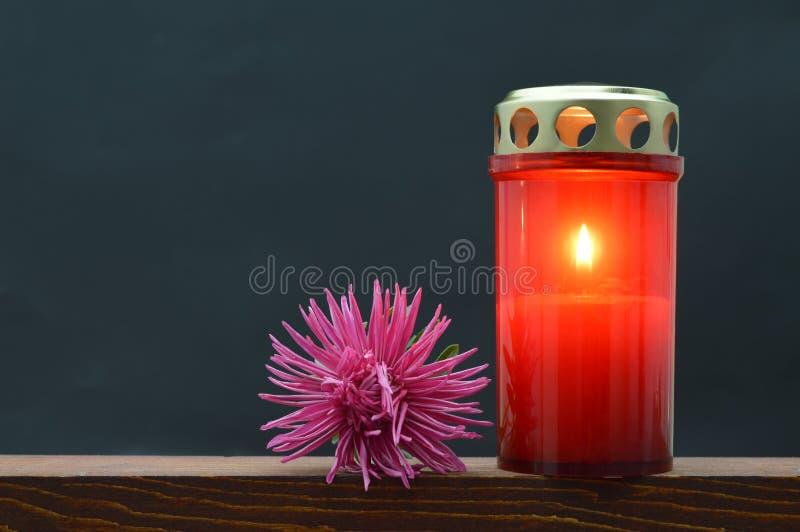 Minnes- stearinljus royaltyfria foton