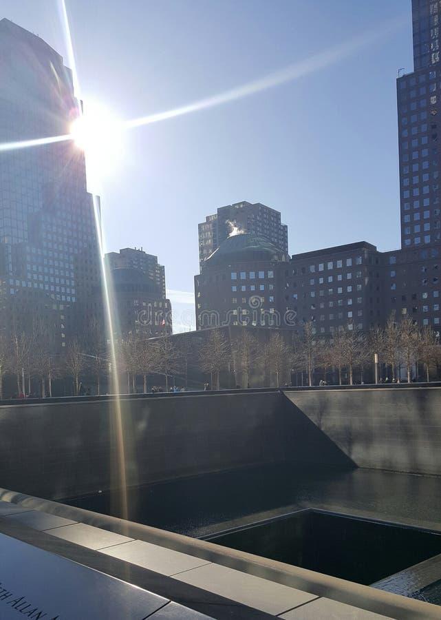 minnesmärke 9 11 arkivfoto