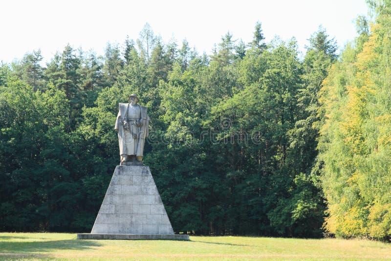 Minnesmärke av Jan Zizka från Trocnov royaltyfri foto
