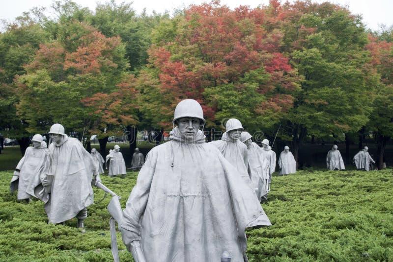 Minnesmärke för koreanskt krig fotografering för bildbyråer