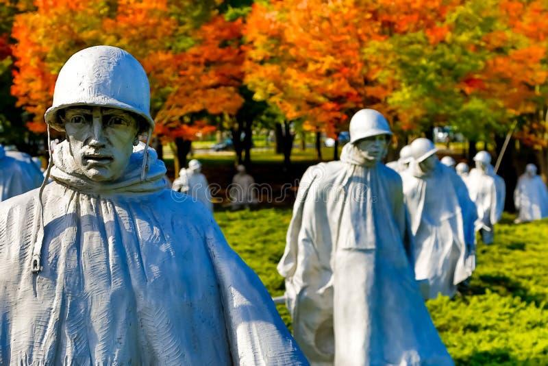 Minnesmärke för koreanskt krig arkivfoto